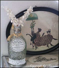 An altered ananas juice bottle by Boxwoodcottage