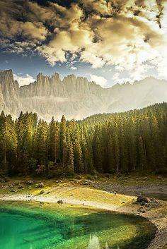 Lake of Carezza, Dolomites, Italy