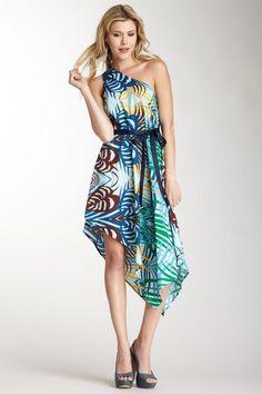 Tropical Getaway One Shoulder dress!
