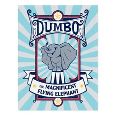 Dumbo The Magnificent Flying Elephant Circus Art Canvas Print , Dumbo Movie, Cute Elephant, Elephant Canvas, Elephant Ring, Dumbo The Flying Elephant, Make Your Own Puzzle, Circus Art, Binder Design, Custom Posters