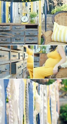 handmade-vintage-yellow and blue outdoor shower