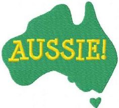 Aussie free embroidery design. Machine embroidery design. www.embroideres.com