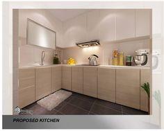 HDB Kitchen Ideas @ Hougang - Interior Design Singapore