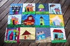 """Wonky House"" quilt Block Swap"