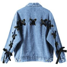 Solid bandage long sleeve denim jacket (€37) ❤ liked on Polyvore featuring outerwear, jackets, coats, tops, blue jean jacket, long sleeve jacket, pattern jacket, jean jacket and print jacket