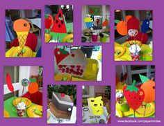 """The Very Hungry Caterpillar"" themed party by paperminties - table centerpiece sticks"