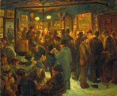 John French Sloan - Bar MacSorley un sábado por la noche, 1927
