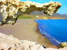 La playa del arco, Los Escullos, Almería