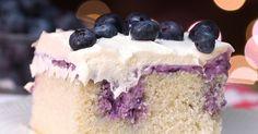 Blueberry Cheesecake Poke Cake Is a Dessert Lover's Dream
