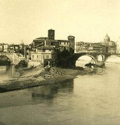 Italy Roma Tiber Island Old NPG Stereo Photo 1900 Contemporary Photographers, Tower Bridge, Photo Studio, Vintage Photos, Photo Galleries, Italy, Island, History, Gallery