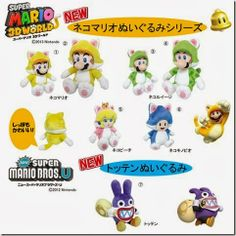 Super Mario 3D World Neko Plushes