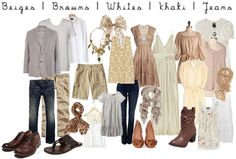 beige white brown khaki what to wear fall photo session