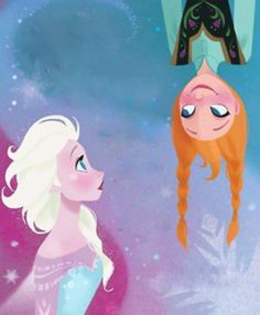 *ELSA THE SNOW QUEEN & PRINCESS ANNA ~ Frozen, 2013