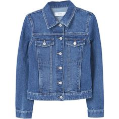 ddb78fd00 Dark Denim Jacket (€41) ❤ liked on Polyvore featuring outerwear