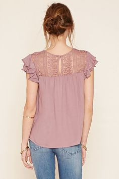 Contemporary Crochet Panel Top | Forever 21 - 2000236089