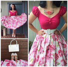 Retro Fashion Miss Victory Violet Vintage Outfits, 50s Outfits, Pin Up Outfits, Mode Outfits, Vintage Dresses, Fashion Outfits, Stylish Outfits, Rockabilly Mode, Rockabilly Fashion