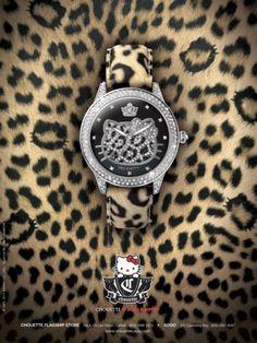 Hello Kitty leopard print watch<3