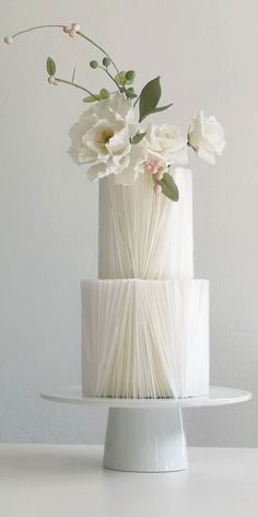 Textured Wedding Cakes, White Wedding Cakes, The Wedding Date, Elegant Wedding Cakes, Beautiful Wedding Cakes, Simple Elegant Wedding, Wedding Cake Designs, Wedding Desserts, Beautiful Cakes