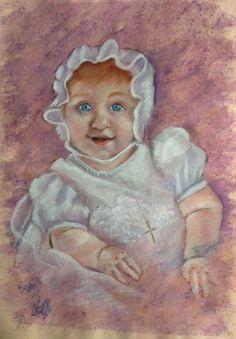 Portrait of Daphne pastel on high rag paper