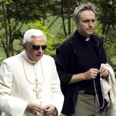 Georg Gänswein and Pope erem. Benedict