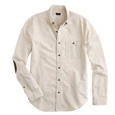 J.Crew - Heathered chamois elbow-patch shirt