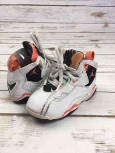 5b97c965347f NIKE SNEAKERS Baby Boys Air Jordan True Flight High Tops Shoes White Black  8 C