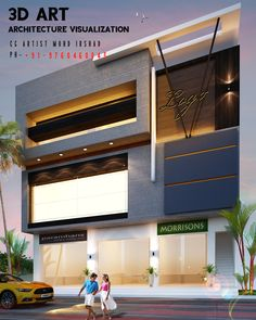 Architecture Visualization, Art And Architecture, Building Front, Duplex House Design, 3d Home, Drawing Room, Front Design, House Front, Hyderabad