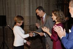 "King Felipe and Queen Letizia attended ""National Culture Awards"" at San Antolin Cathedral in Palencia, Spain"