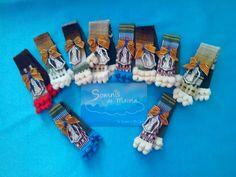 Broches Manta Morellana con Virgen Desamparados