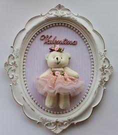 Quadro Ursinha Bailarina