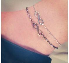 Infinity/Eternity Anklet Silver or Gold by TonisJewelleryOnEtsy Stone Jewelry, Jewelry Box, Jewelery, Jewelry Accessories, Anklet Jewelry, Beaded Anklets, Ankle Braclets, Bracelets, Cute Anklets
