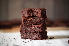 Like a cake brownie, these have a decent crumb and stay together without falling apart but with a thick and fudgy texture.