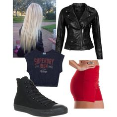 Punk by samicole on Polyvore featuring polyvore, fashion, style, Superdry, VIPARO, Charlotte Russe and Converse