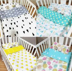 c879ee284d0da NEW Fitted sheet baby Hot Crib Bed Linen 3pcs Baby Bedding Set Include  Pillow Case+