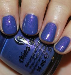Fancy Pants - Love, love, love this one, I'm a sucker for purples.  China Glaze Avant Garden Collection Spring 2013