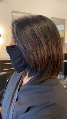 Have you been contemplaring on the idea of cutting your hair for a while now?  A bob haircut it is always very well suited for anybody snd it can be customized depending on hour hair type and complexion.  For thick hair you can add some texture at the bottom but be careful not to over do it! #haircut #womenhairstyle #hairstylesforshorthair #shorthaircut #shorthairstyles #brunettebalayageshorthair #brunettehaircuts Bob Hairstyles For Thick, Haircut For Thick Hair, Choppy Bob For Thick Hair, Medium Bob Haircuts, Bobs For Thick Hair, Dark Hair Bobs, Layered Bob Haircuts, Medium Hair Cuts, Short Hair Cuts