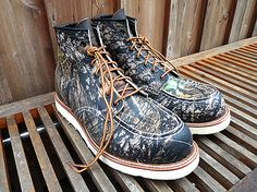 CAMOUFLAGE RED WING SHOES # 8150