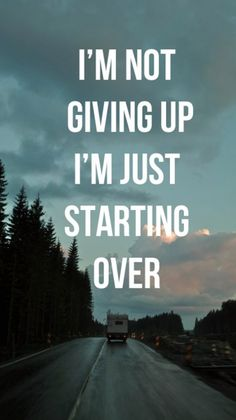 im not giving up