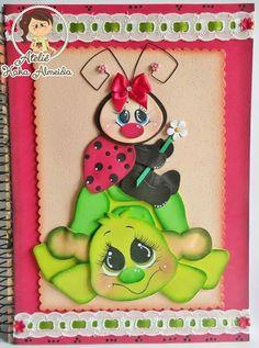 Resultado de imagen para cuadernos decorados en goma eva de mariquitas #gomaevamanualidades