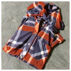 Plaid hoodie Red, blue and black plaid hoodie. Thin fabric and Never worn Polly esther Tops Sweatshirts & Hoodies