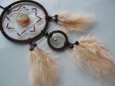 Achat und Perlen im  hochwertigen - ausgefallenen Traumfänger