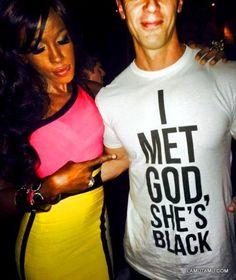 Beautiful interracial couple - I adore his shirt! #love #wmbw #bwwm