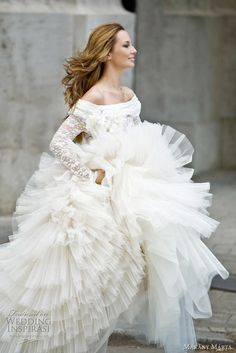 Makány Márta Wedding Gowns 2010/2011 ball gown wedding dress with long sleeves