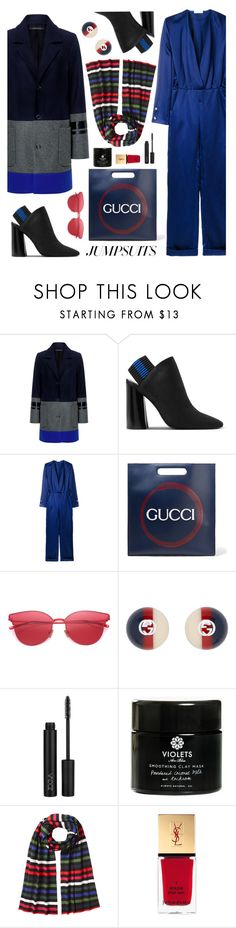 """""""One & Done"""" by esch103 ❤ liked on Polyvore featuring Mother of Pearl, 3.1 Phillip Lim, Thierry Mugler, Gucci, LMNT, ZOEVA, Violets Are Blue, Sonia Rykiel, Yves Saint Laurent and jumpsuits"""