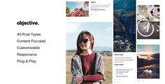 Objective - Responsive Grid Portfolio, Tumblr Theme #tumblr #theme #layout #portfolio #inspire #gallery #grid #minimal #minimalistic