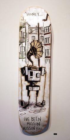 "Matt Doyle · ""Honey"" · Deck · Skate · Art · Retro · Sounds · Song · City · Wood · Trick"
