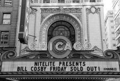 CHICAGO THEATER Bill Cosby, White Photography, Theater, Broadway Shows, Chicago, Presents, Van, Black And White, Gifts