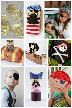 Argh! Shiver me timbers! Avast ye land lubbers! It doesn't have to be Talk Like a Pirate Day to make some fun pirate crafts!