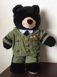 586f36bfee5 Build A Bear US Army Veteran Military Uniform Black Bear Plush Stuffed  Animal