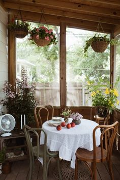 Summer Porch Makeover with Valspar Paint Colors Decor, Screened In Porch, Farmhouse Remodel, Outdoor Spaces, Interior, Table Decorations, Home Decor, Farmhouse Dining, Porch Makeover